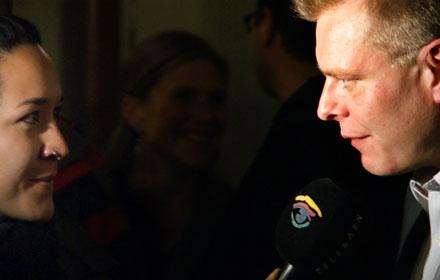 Reto Nause beim Telebärn-Interview (30. November 2008) - Copyright Andi Jacomet