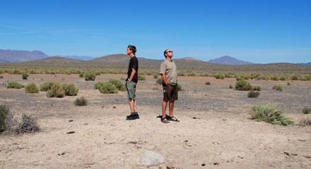 Zwei Jacomets in der Wüste Nevadas (September 2008)