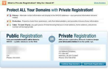 Nepp beim Registrieren von Domainnamen (Dezember 2008)