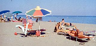 Am Strand, frühe 1960er-Jahre