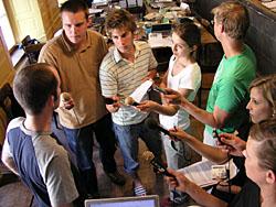 Radio-Interviews nach der Medienkonferenz