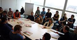 Auch ein Besuch bei der Redaktionssitzung der Solothurner Zeitung - samt Gespräch mit den RedaktorInnen - stand immer auf dem Programm