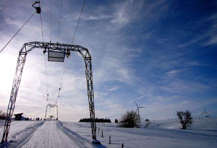 Skilift Les Breuleux, Eoliennes (Januar 2009) - Klicken für mehr Fotos