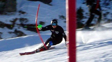 Weltcup-Fahrer beim Slalomtraining am Männlichen