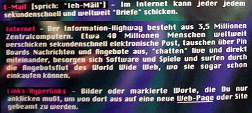 Bravo-Hits-Booklet von 1995: Erklärungen rund um den neuen Trend Internet (Januar 2009)