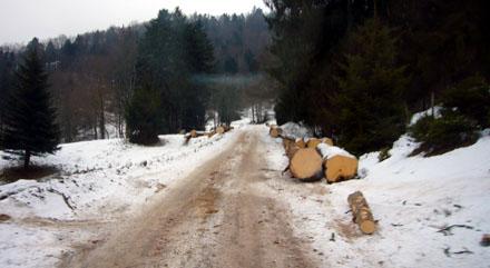 Fahrt zum Skilift Grandval (Januar 2009)
