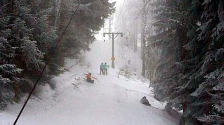 Steilstück Skilift Grandval (Januar 2009)