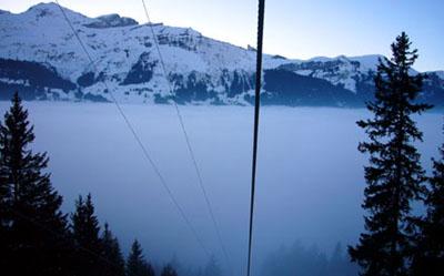 Nebelmeer in verschiedenen Variationen am 30. Januar 2009