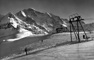 Skilift Männlichen, ca. 1965