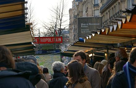Marché biologique Raspail, Paris, Februar 2009