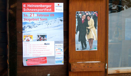 Skifahren in Sarn (Domleschg), Februar 2009