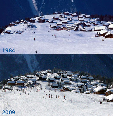 Rosswald 1984 und 2009