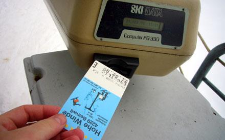 Süsses Skidata-Zutrittssystem (Februar 2009)