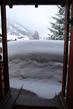 143cm Schnee Mitte Februar in Sedrun