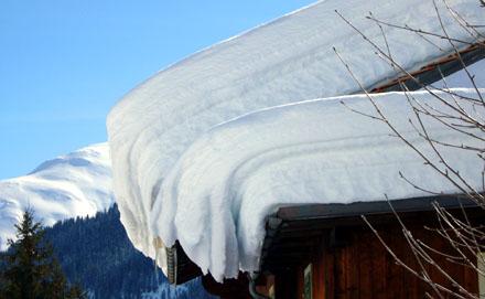 Viel Schnee in Sedrun, Ende Februar 2009