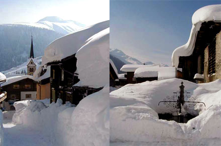 Fast wie Ostern 1975: Rekordschnee in Sedrun, Februar 1999