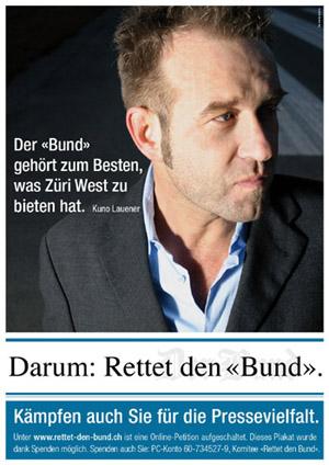 Kuno Lauener wirbt für die Bund-Rettung (März 2009)