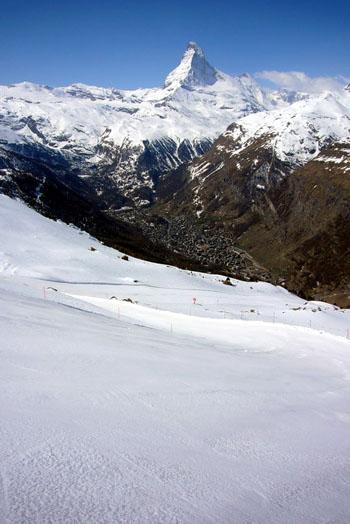 Zermatt: Zwischen Blauherd und Patrullarve (April 2009)
