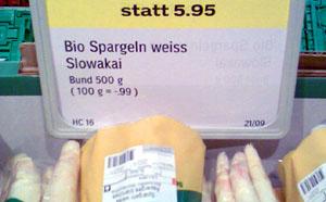 Slowakai oder was? (Coop Sedrun, Mai 2009)