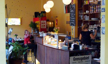 Oderberger Strasse, Berlin, Café Ostfee, 11. Juni 2009