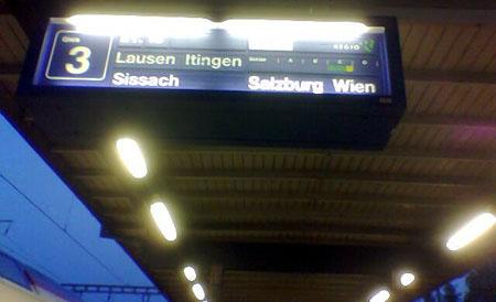 S-Bahn von Liestal nach Wien (Juni 2009)