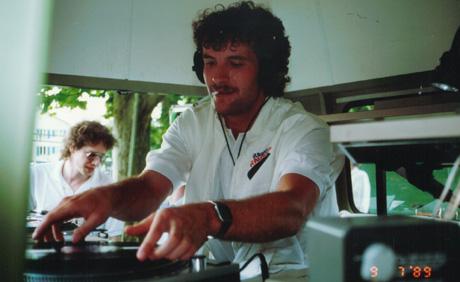 Christoph Steinmann, Meinrad Stöcklin: Radio Raurach am Grümpeli Breitenbach, Sommer 1989