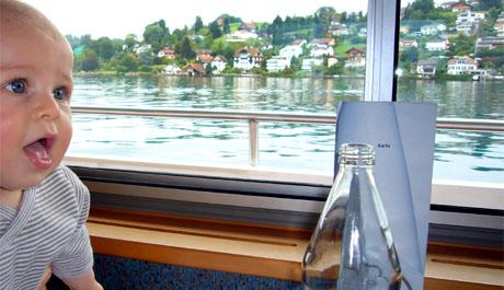Ben an Bord des Mittagsschiffs von Luzern nach Vitznau