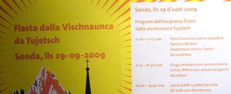 Druckfehler im Sedruner Dorffest-Flyer