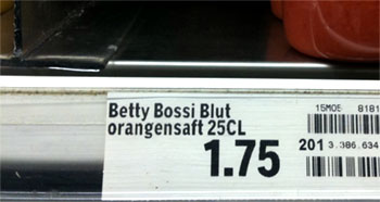 Blut von Betty Bossi