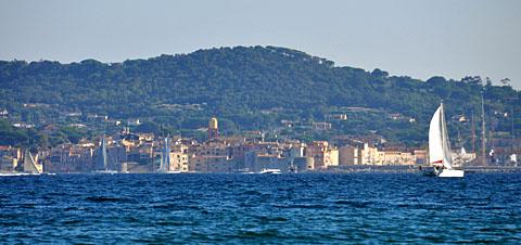 Ste-Maxime, Blick nach St-Tropez, September 2009