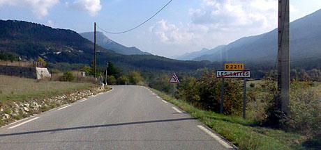 Über Nebenstrassen nach Hause - in der Haute Provence (Oktober 2009)