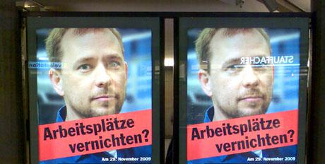 Waffenfreak-Plakat zur Abstimmung vom 29.11.2009