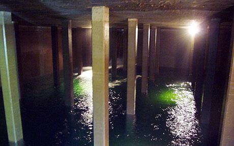 Das neue Wasserkraftwerk Strem in Sedrun am Eröffnungstag (24. Oktober 2009)
