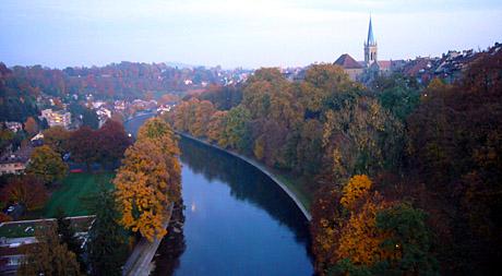 Goldener Herbst: Kornhausbrücke, 31. Oktober 2009