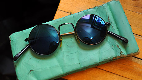War mal chic: Des Blökers Brille aus den frühen 1990ern - inzwischen geshreddert