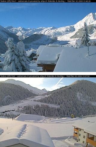 Webcambilder Sedrun 2.12.2009