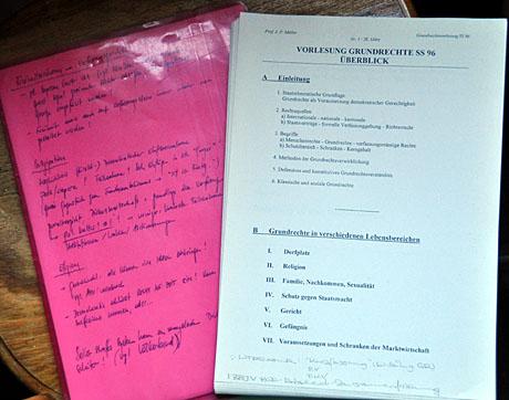 Grundrechte-Vorlesungs-Notizen von 1996: J.P. Müller lässt grüssen