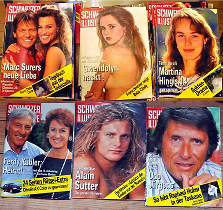 Entsorgt: Alte Schweizer-Illustrierte-Nummern aus den 1990ern