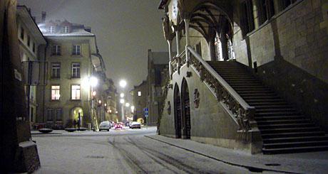 Tiefer Winter in Bern, 19.12.2009