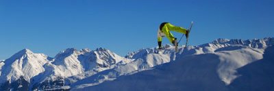 Heisse Sprünge im Snow Park Tegia Gronda, Sedrun (Dezember 2008)