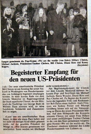 Bill Clinton ist neuer US-Präsident (Januar 1993)