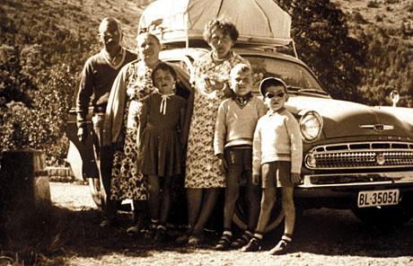 Eine Grossfamilie unterwegs in den Süden, Sommer 1960