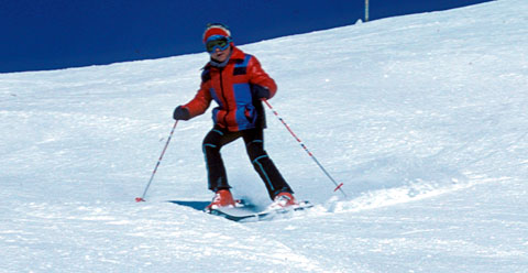 Skigebiet Scuol, Winter 1980 (eigener Diascan)