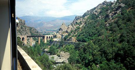 Bahnfahren in Korsika, Sommer 1990