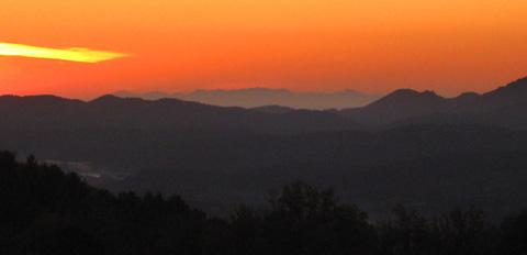 Korsika vom Festland aus gesehen, 9.12.09