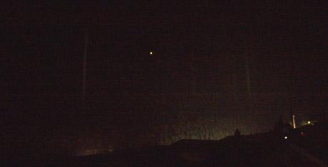 Seltsame Lichterscheinungen über Sedrun, 10. Januar 2010, 23.25 Uhr