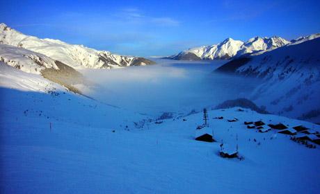Nebelmeer über Sedrun, 10. Januar 2010
