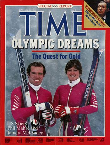 Phil Mare und Tamara McKinney auf der TIME-Frontseite vom 30.1.1984