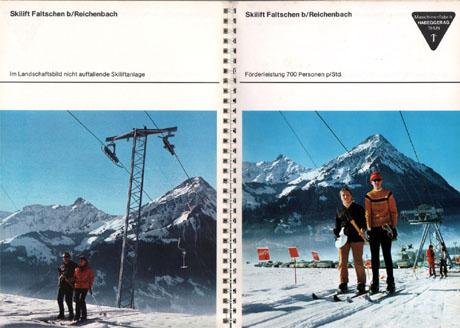 Skilift Faltschen, Habegger-Prospekt aus den 1970ern
