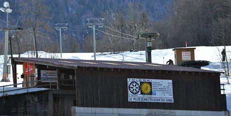 Der längste Bügellift des Juras: Skilift Le Pâquier, 27.2.2010